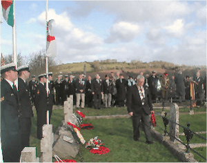 Wreath Laying at A5 graves 12 Feburary 2005