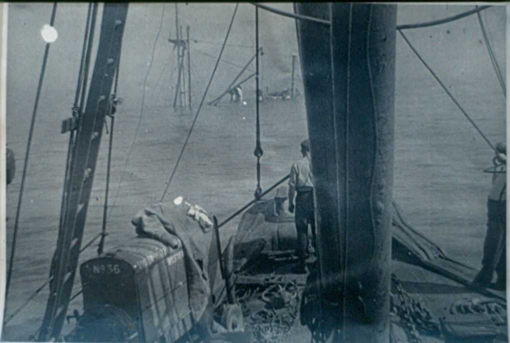 The Bow Section of the Bolivar, taken from the Salvage Vessel