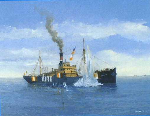 Sunk by U-Boat U-46 gunfire in North Atlantic, 4th September 1940