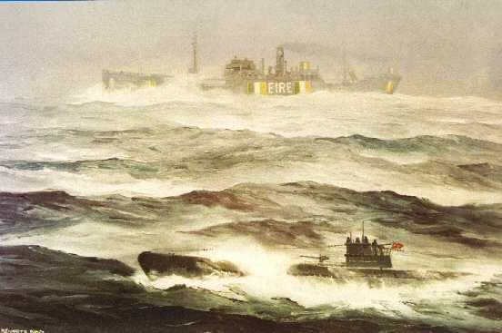 Oil painting by Kenneth King, in the National Maritime Museum of Ireland