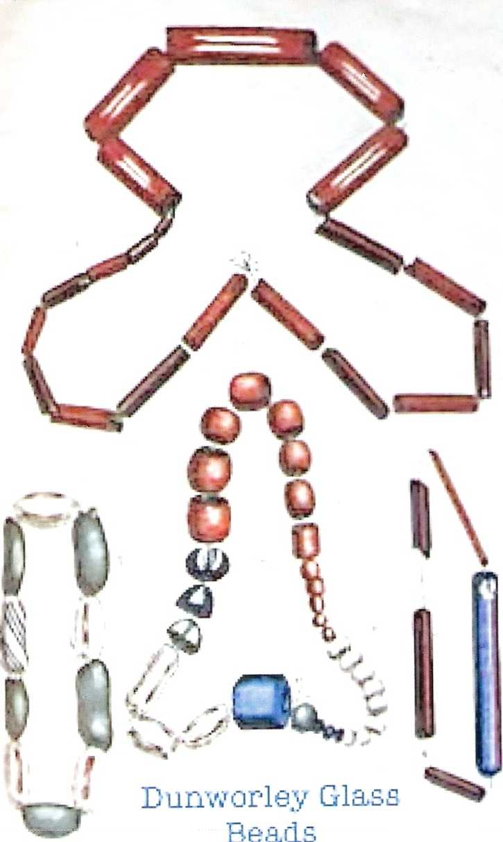 Glass beads recovered from the Amity at Dunworley