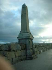 Boyd Monument on DnLaoighre Pier