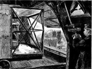 The light above Big Ben, (note the Palace of Westminster below) from The Graphic 29 October 1887