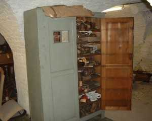 Here it stands, with a newspaper article, on the finding of this cabinet, attached.