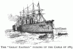 Great Eastern picking up the Cable