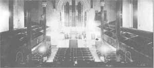Interior of Mariners&#039; Church in 1937