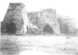 The structure of the Dundaniel Smelter would have been similar to the above structures with the typical two-arch arrangement.  One arch housed the blowing machine, the other allowed iron to be run-off into sand beds at suitable intervals