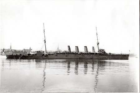 The HMS Dublin was based in Dun Laoghaire port for a while and participated at the Battle of Jutland http://en.wikipedia.org/wiki/HMS_Dublin_(1912) and her crew would have worshipped in the Mariners Church, which today houses the National Maritime Musem.