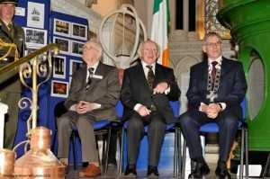 Pat Sweeney, President Higgins and Peadar Ward_0012433
