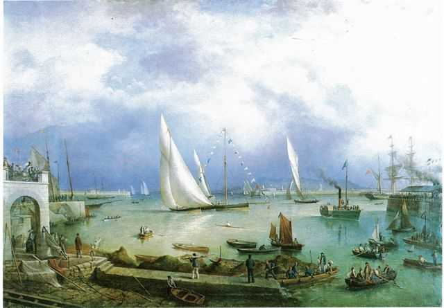Kingstown Harbour by Richard Brydges Beechey