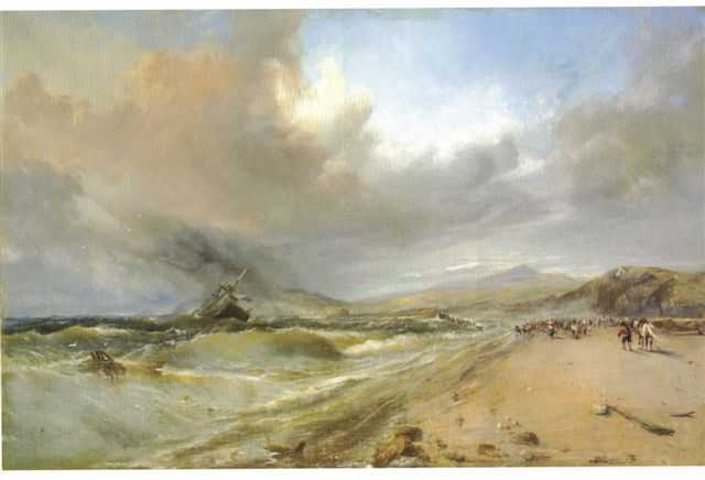 Wreck on Bray Strand by Edwin Hayes