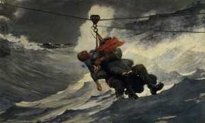 The Life Line - an oil painting from 1884 by Winslow Homer