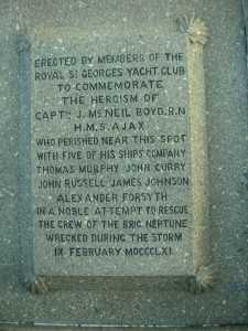 Inscription on the Boyd monument, DúnLaoghaire pier
