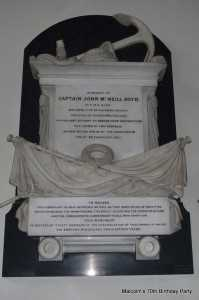 Memorial to Boyd in Christchurch, Cheltenham, where his brother Archibald was minister