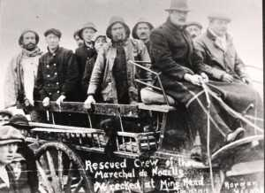 Crew of Mareschal de Noailles on rocket cart