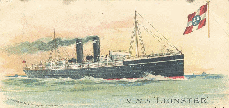 RMS Leinster, over 500 died