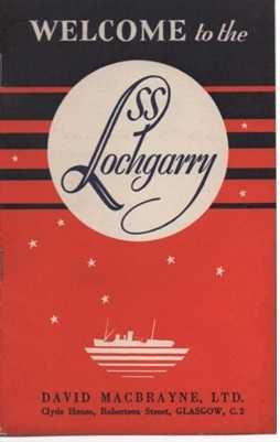 SS Lochgarry brochure for Highland Cruises from the late 1930s